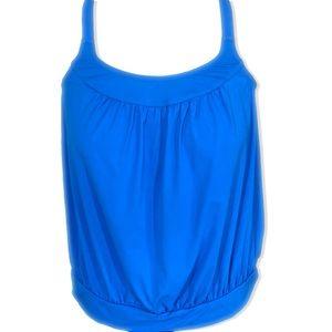 Lands End Plus Sized Blue Tankini Swimsuit Top 20W
